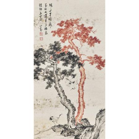 溥儒(1896-1963) 松鶴延年圖