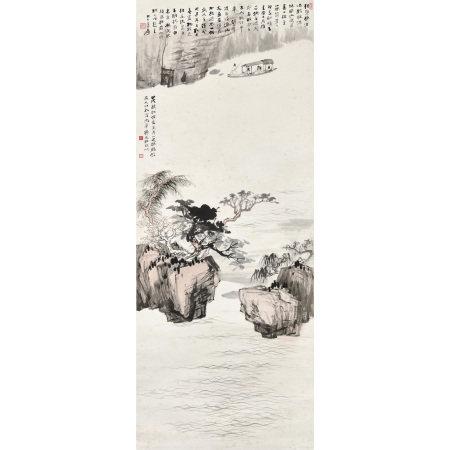張大千(1899-1983) 赤壁泛舟