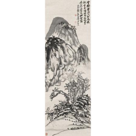 吳昌碩(1844-1927) 古木歸鴉圖