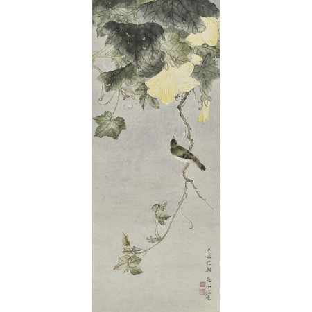 冠仙(近現代 ) 花鳥