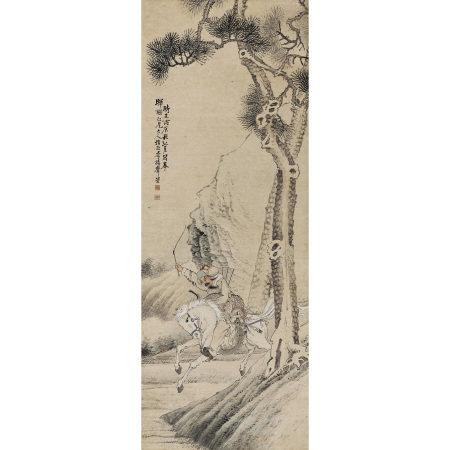李揚聲(清) 狩獵圖