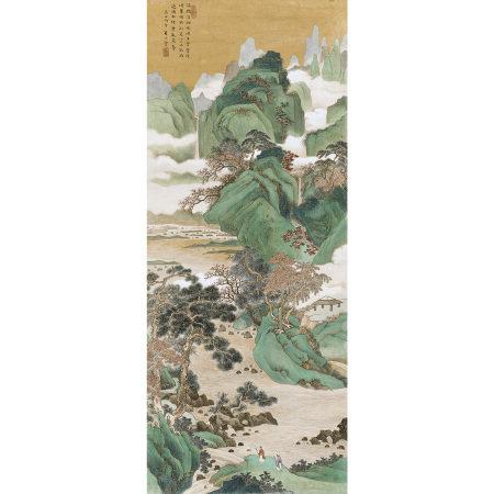朱竹雲(1898-1952) 青綠山水