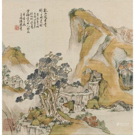 潘譽賚(清) 亂山圖古寺