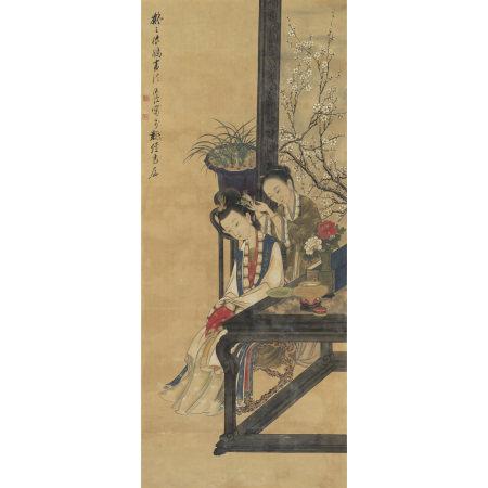陳洪綬(1598-1652 ) 擬王振鵬仕女圖