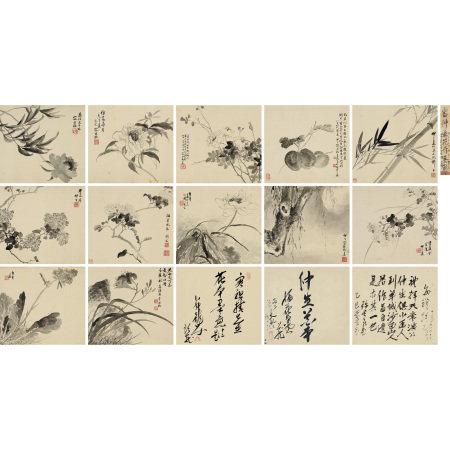 容祖椿(1872-1944) 花卉册