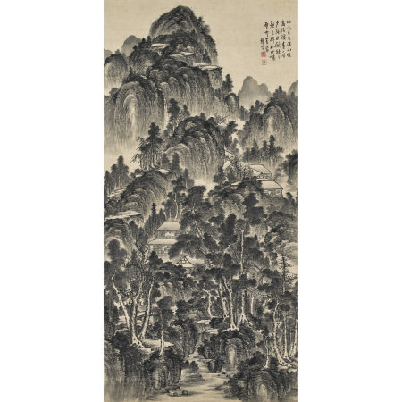 龔賢(1618-1689) 千岩萬壑圖