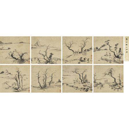 查士標(1615-1698) 山水册