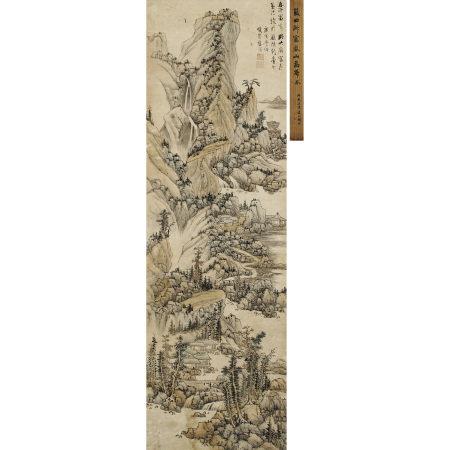 藍瑛(1585-1664) 擬大癡富春山水圖