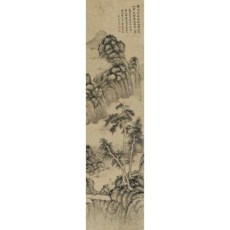 方薰(1736-1799) 仿吳鎮山水圖