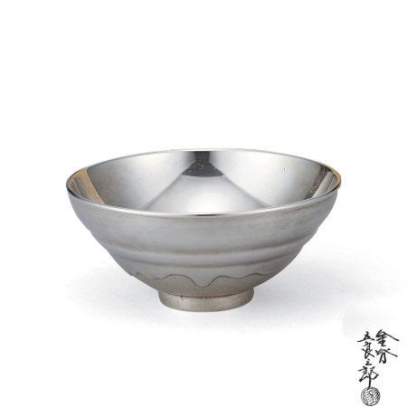 五郎三郎南鐐天目茶碗(付共箱)