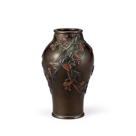 宮部篤良 銅花鳥紋花瓶