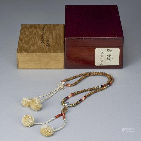 清 伽羅五裝束念珠