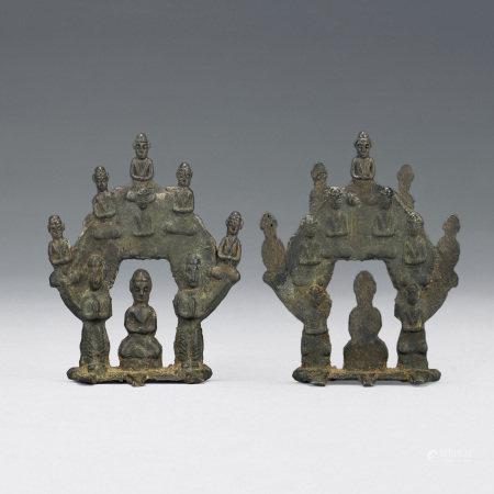 六朝 兩面雕銅枝佛