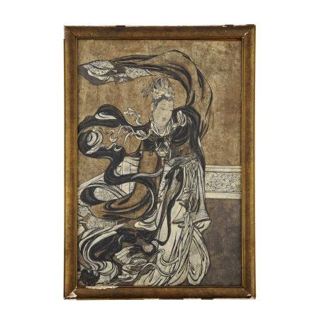 遼代 宮廷仕女壁畫