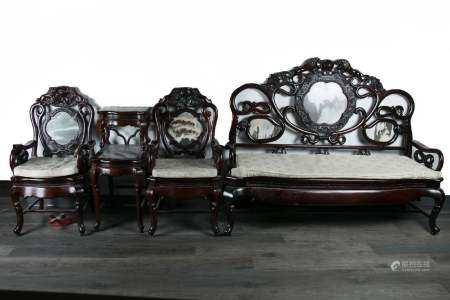A Set Of Four Pieces Suanzhi Furniture Republic