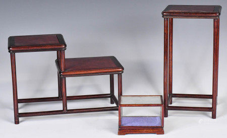 A Set of Three Wood Stands, 19th C