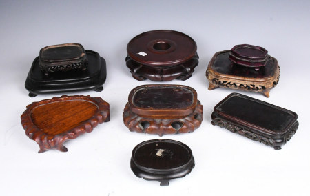 A Group of Old Hongmu Stands Nine Pieces