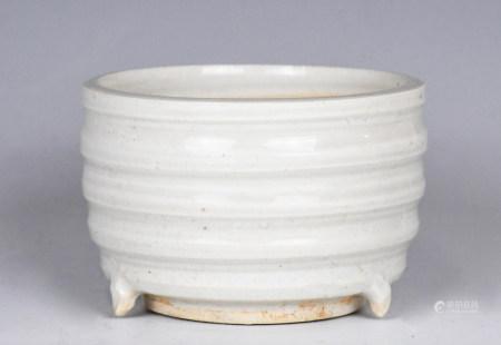 A White Glazed Tripod Censer