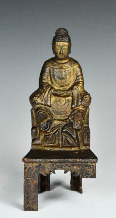 An Inscribed Iron Buddha Statue, Ming Dynasty