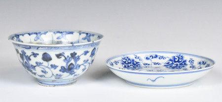 A Blue and White Guangxu Mark Small Dish, A Blue a