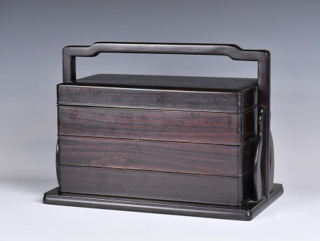 A Three Tiered Wooden Box