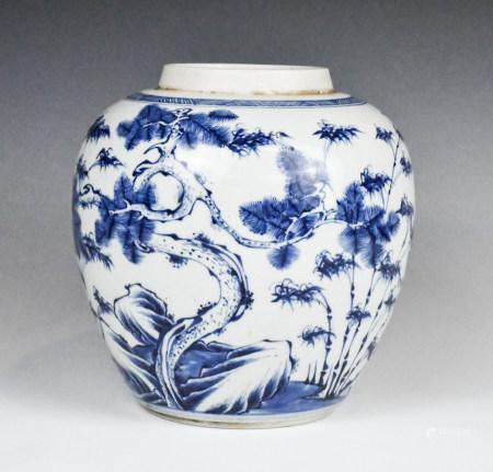 A Blue and White Jar, Yongzheng Period