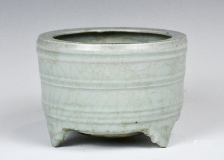 A Longquan Celadon Tripod Censer, Song Dynasty