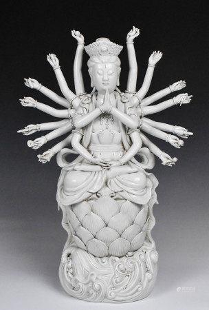 A Blanc DeChine Guanyin Statue, 19th C.