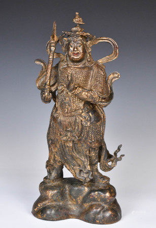 A Gilt Bronze Weituo Statue Qing