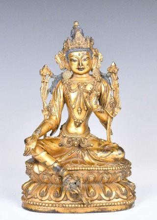 A Gilt Bronze Figure 16-17TH C