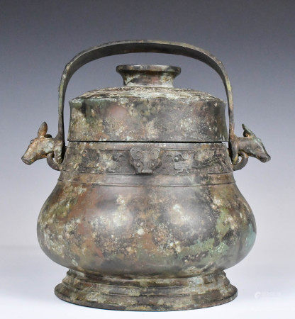 An Archaic Bronze Ritual Wine Vessel, Before Ming
