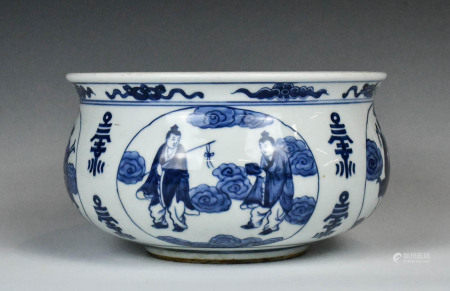A Blue and White 'Baxian'/'Eight Immortals' and 'S