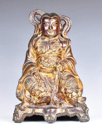 A Gilt Bronze God Of Literature Statue, Ming