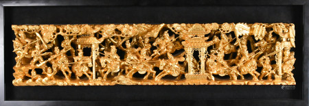 A Chinese Gilt Carved Hanging Screen