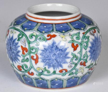 A Doucai Waterpot KangXi Mark