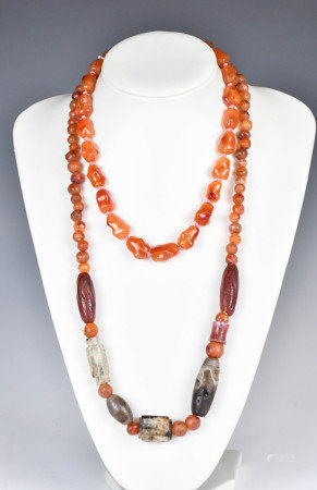 Two Hardstone Necklaces