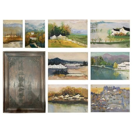 Collection of 20 Landscape Oil Painting, WU GUANZHONG