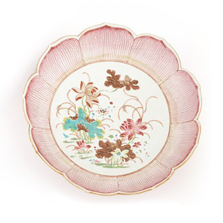 Chinese Export Porcelain Lotus Shaped Dishes