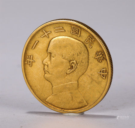 CHINESE GOLD COIN OF REPUBLIC OF CHINA