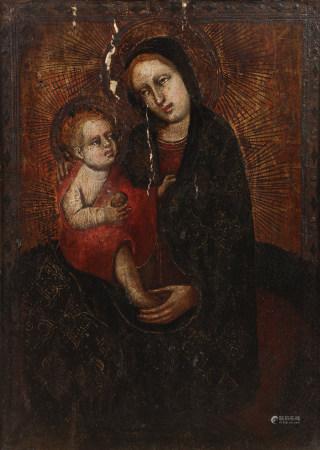 MAÎTRE DE RONCAIETTE (connu à Padoue, vers 1420)  - Vierge d'humilité avec [...]