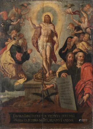 Jacob de BACKER (Anvers, vers 1540 - 1585)  - La résurrection  - Panneau.  - [...]