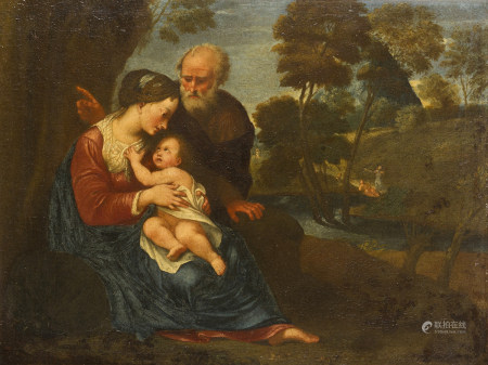 Attribué à Pascale ROSSI   - (dit aussi Pasqualino Rossi, 1641 - 1722)  - Le repos [...]