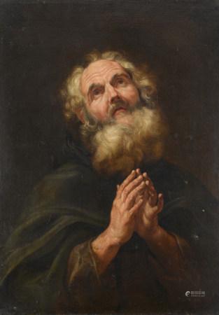 Battista GAULLI dit il Bacciccio (1639 - 1709)  - Saint Antoine abbé en prière  - [...]