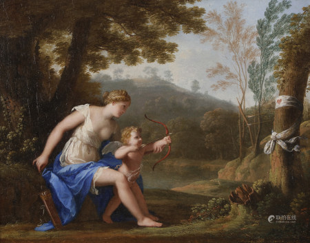 Jacques STELLA (Lyon, 1596 - Paris, 1657)  - L'entraînement de l'Amour  - Toile. [...]