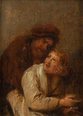 Attribué à Jan Miense MOLENAER (1609/10 - 1668)  - Élève réprimandé par son [...]