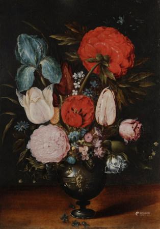 Attribué à Ambrosius BRUEGHEL  - (Anvers, 1617 - 1675)  - Nature morte au bouquet [...]
