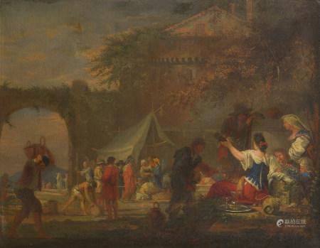 Domenicus Van WIJNEN dit ASCANIUS (Amsterdam, 1661 - après 1690)  - Campements de [...]