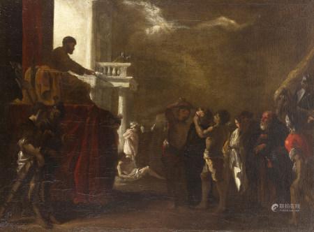 Johann Heinrich SCHÖNFELD (1609 - 1683)  - Scène de martyre  - Toile.  - [...]
