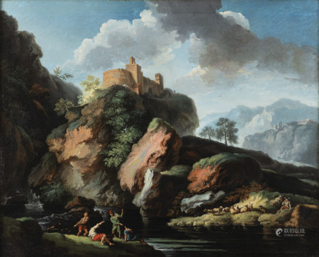 Christian Wilhelm Ersnt DIETRICH  - (Weimar, 1712 - Dresde, 1774)  - Les Roches  - [...]
