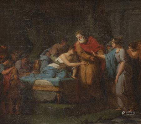 Jean Joseph TAILLASSON (1745 - 1809)  - La maladie d'Antiochus  - Toile.  - [...]